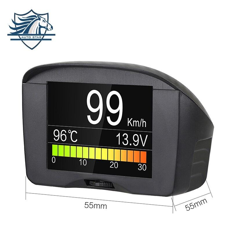 AUTOOL X50 Plus coche HUD Headup pantalla OBD2 velocímetro Digital odómetro temperatura voltaje 12 V Auto diagnóstico escáner herramienta