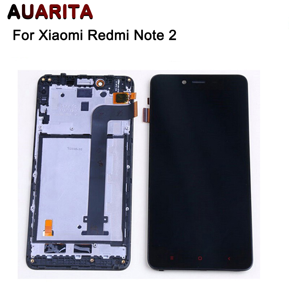 For XiaoMi Redmi Note 2 LCD Display Touch Screen With Frame Assembly Replacement For Redmi Note 2 Replacement Spare Parts