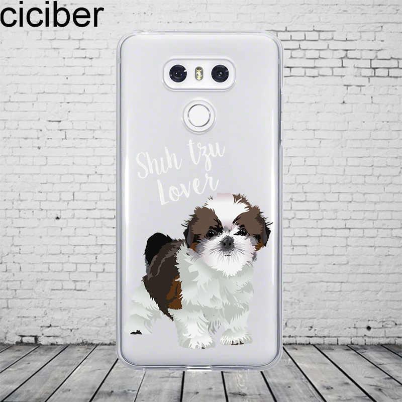Ciciber Animal Bonito Cão Pug Para LG G7 G6 G5 G4 V40 V35 V30 V20 ThinQ Telefone Soft Case TPU para LG K8 K10 K4 2017 2018 K9 K11 Plus