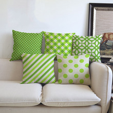 Green Geometric leaf Clover flower cushion cover Pillow case Decoration for Home chair sofa friend car gift kids bedroom present nordic style tropical plants flamingo green leaf cushion cover decoration for home sofa chair car pillow case friend kids gift