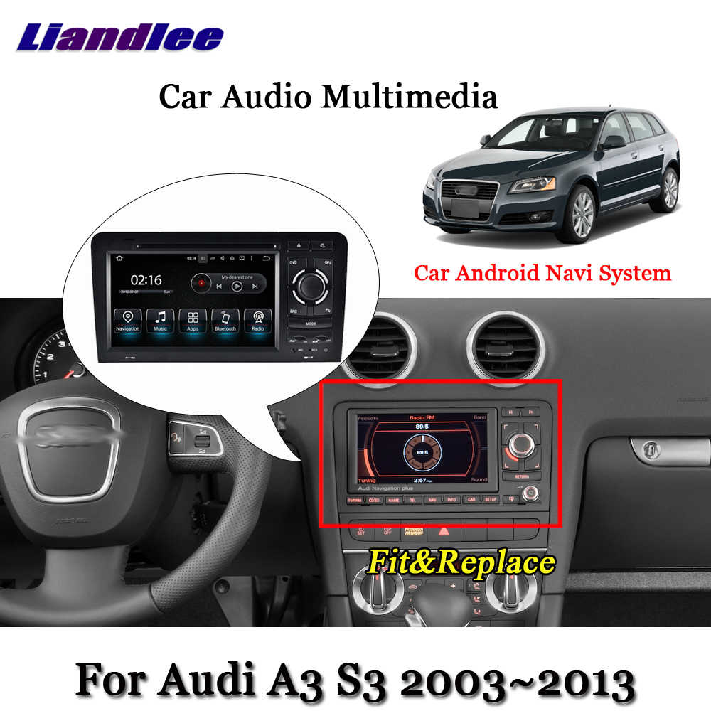 Sistema Android Carro Para Audi A3 S3 8 Liandlee P 2003 ~ 2011 Câmera GPS TV Rádio BT DVD Carplay navi Navigation Tela HD Multimídia