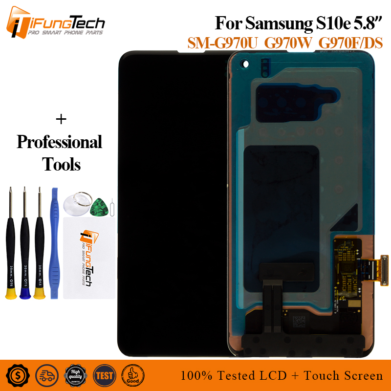 For Samsung Galaxy S10 e LCD G970F DS G970U G970W SM G9700 Display with frame Touch