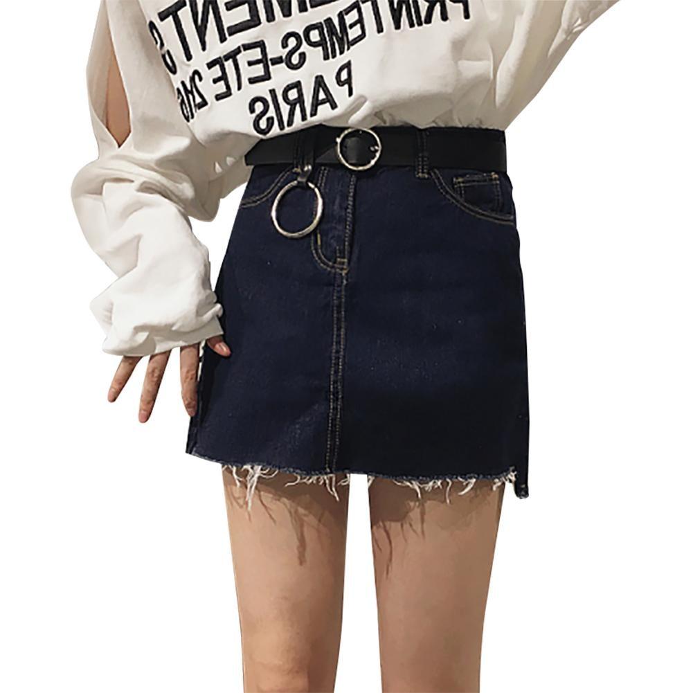 Hot Sale Triangle Round Buckle Belts Female HOT Leisure Jeans Wild Belt Metal Buckle Black Strap