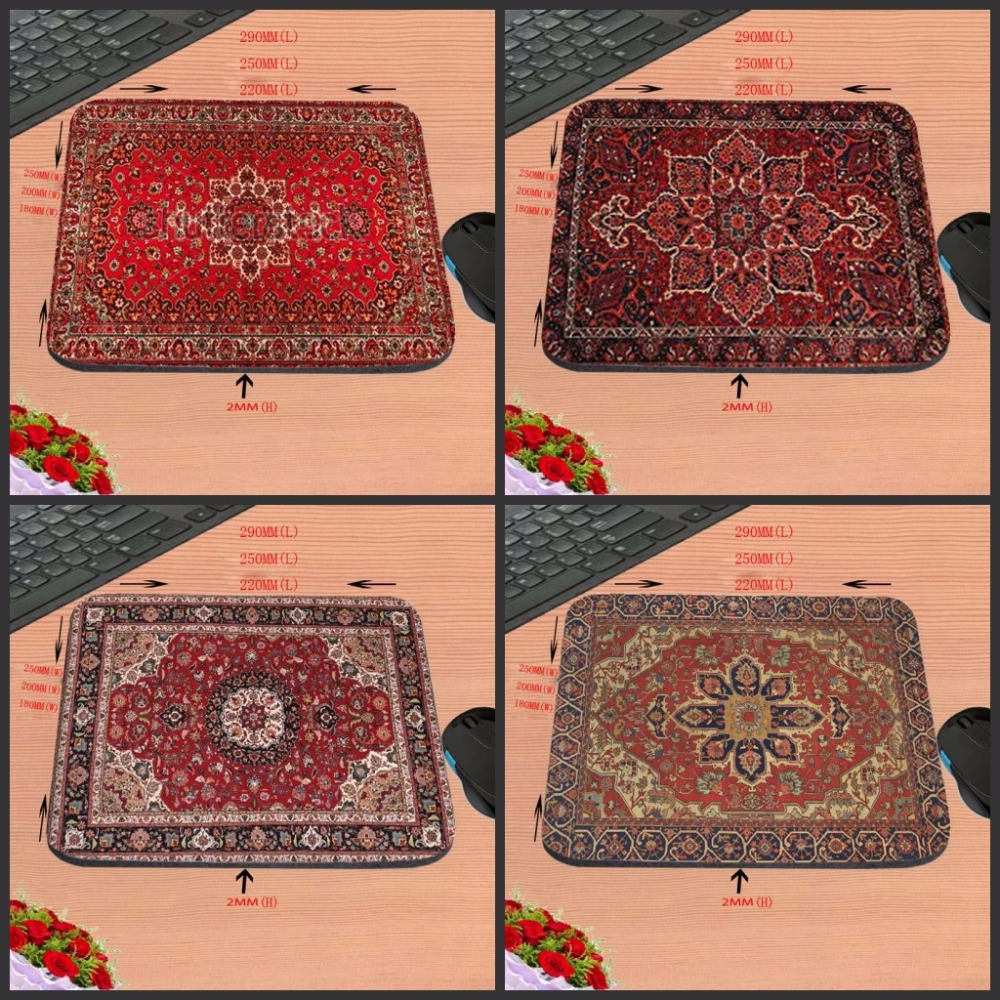 Mairuige 18*22/25*29CM Mousepad Persian Carpet Style Rubber Anti-slip Laptop Computer Game Mouse Pad For CSGO Dota2 Pad Mat