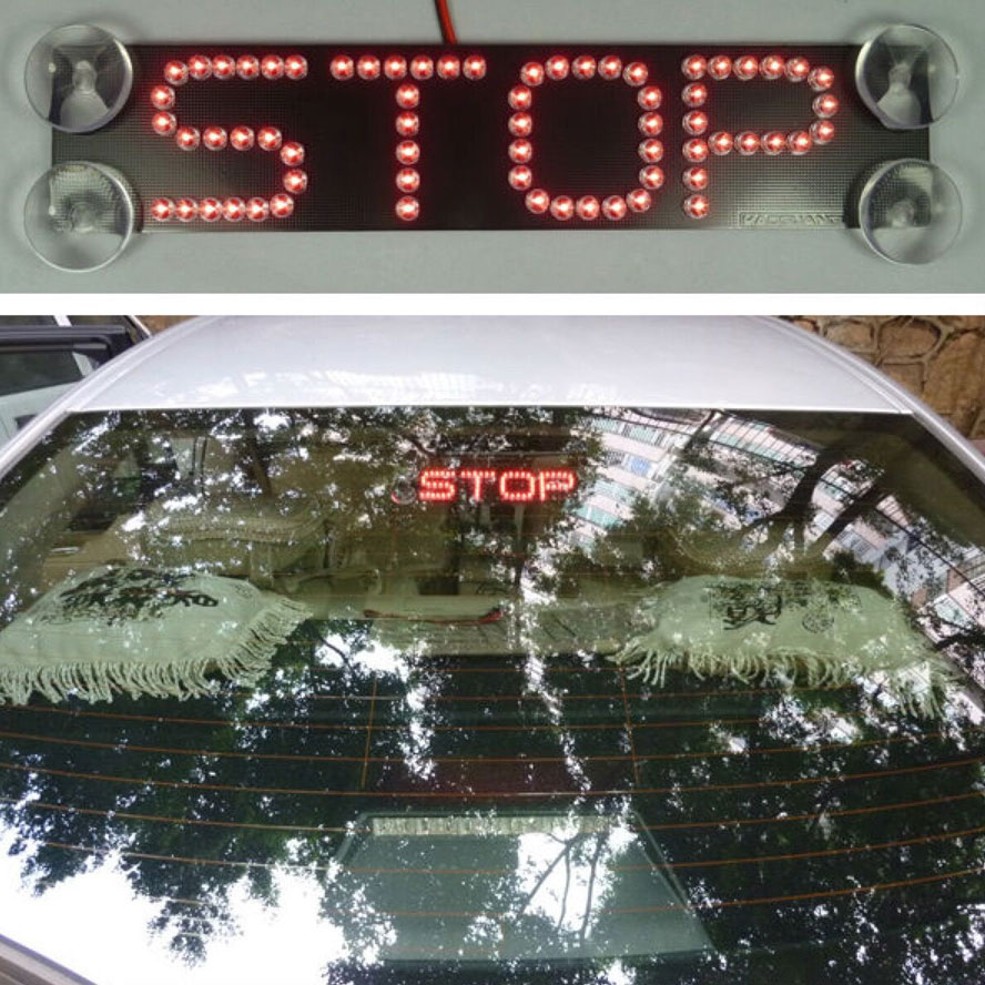 BBQ@FUKA Rear Windshield High-mount Stop LED Light Warning Signal Fit For Vito Sprinter E550 R350 S550 SLK350 GL320/450 C230