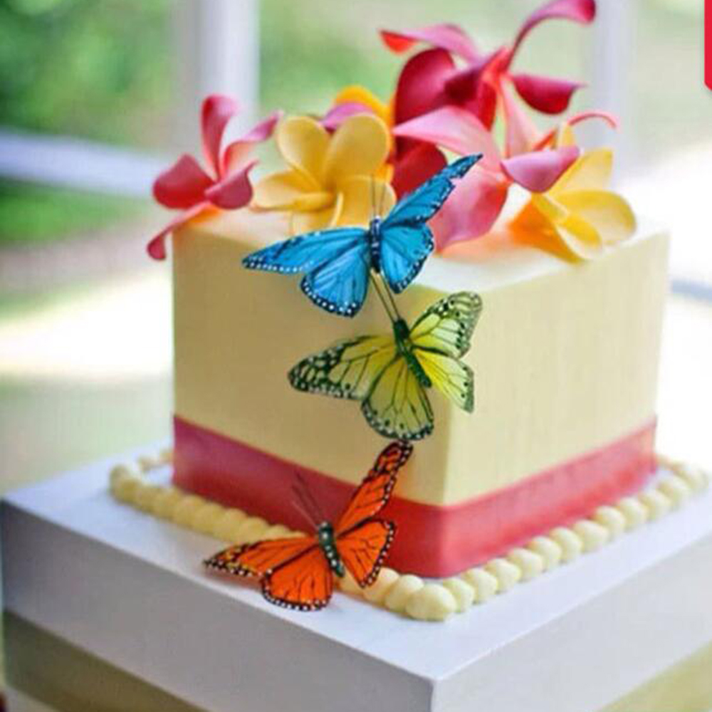 28 Beautiful Flower and Butterfly Edible Wafer Paper Cake Toppers Decorations