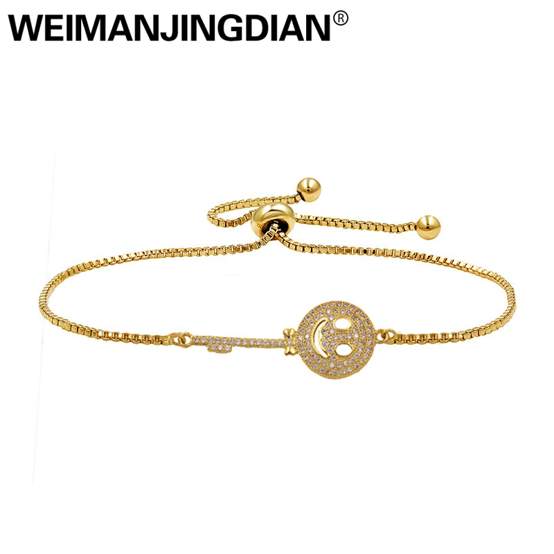 uk cheap sale well known new concept best top 10 gold smile face bracelet list and get free ...