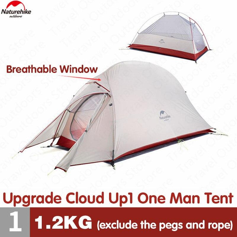 Naturehike Ultraleicht Upgrade Cloud Up1 Outdoor 20D Silikon Camping Zelt Tragbare 4 Jahreszeiten Camping Zelt Aluminium Pole Zelt