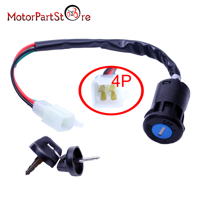 Excellent 4 Pin Wires Ignition Switch Key For 50Cc 70Cc 90Cc 110Cc 125Cc Super Wiring 101 Olytiaxxcnl