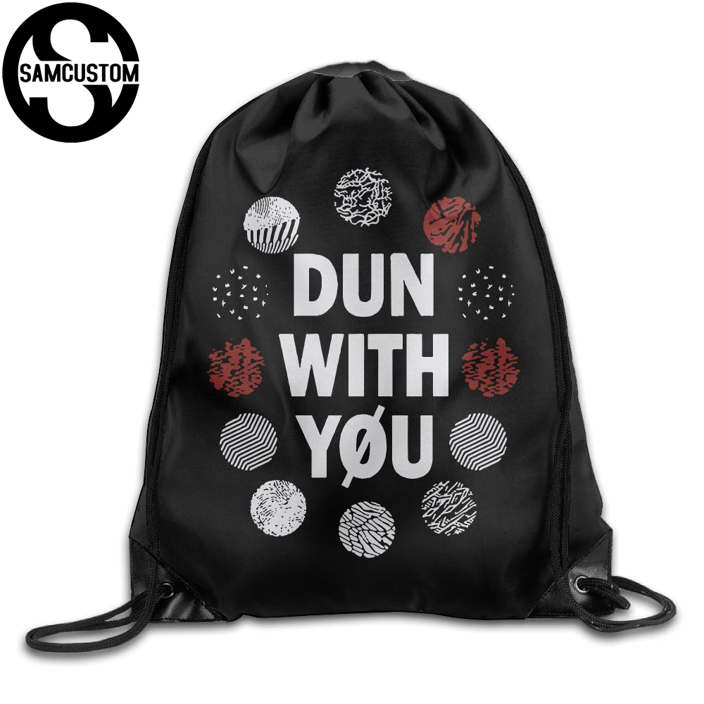 Samcustom I Love Twenty One Pilots Shoulders Bag Fabric Backpack Men And Women Port Drawstring Travel Shoes Dust Storage Bags