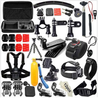 GloryStar 49 in 1 Accessories Kit for GoPro Hero3+ 3 2 1 for Xiaomi SJCAM Skiing Cycle Hiking Outdoor Sport Camera Accessories