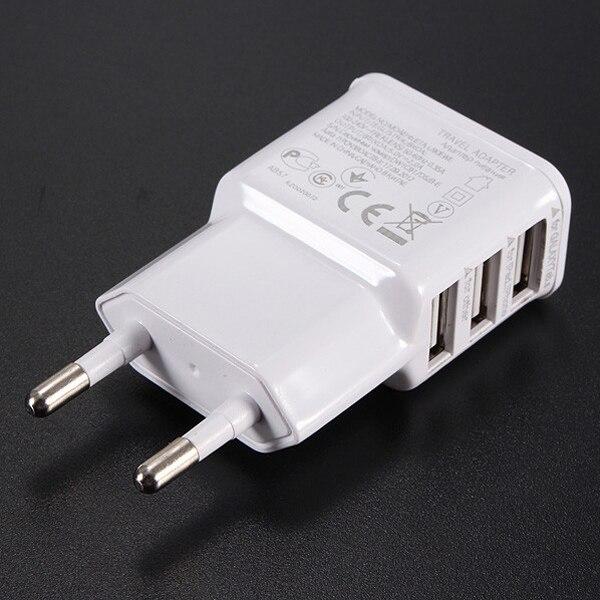 ЕС Plug 3 Порты и разъёмы USB HUB Адаптеры питания перемещения дома стены Зарядное устройство для сотового телефона 5 В 2A