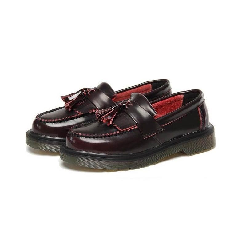 Errfc Gland Femelle Rouge Bureau Bateau Taille Sur Glissement Britannique Oxford La 44 vin Dames Chaussures Plus Femmes Pour Loisirs 43 Noir Noir Collège 0wrwHFBxq
