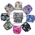 Wholesale - washable baby cloth nappy 10pcs cloth diaper+10pcs inserts fit 4-17KG