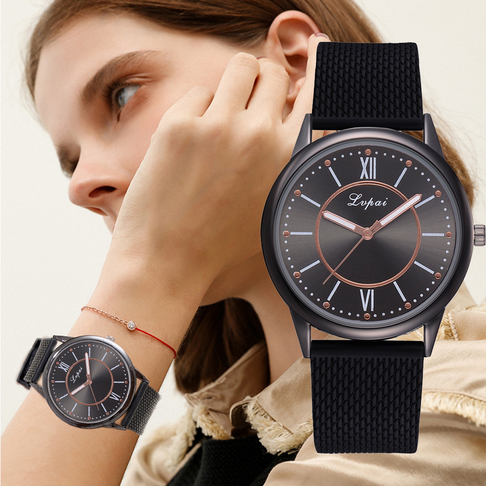 2020 New Lvpai Women's Casual Quartz Silicone Strap Band Watch Analog Band Watch Analog Wrist Watch Women Gril Clock Reloj