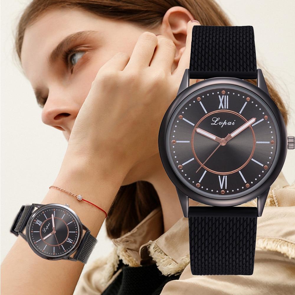 2020 New Lvpai Women's Casual Quartz Silicone Strap Band Watch Analog Band Watch Analog Wrist Watch Women Gril Clock Reloj