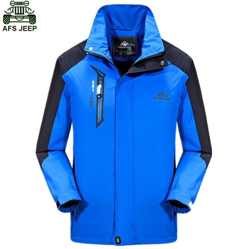 AFS JEEP Brand Hunting Clothes Camping Hiking Clothing Soft Shell Jacket Waterproof Windproof Outdoor Tactical Fleece Coat Men