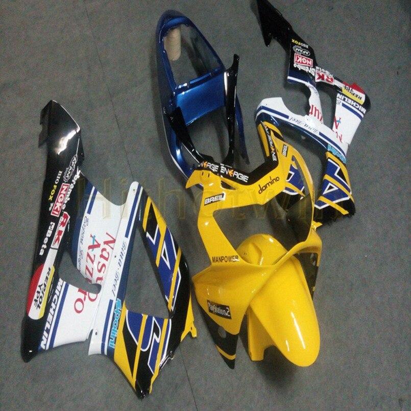Carénages de moto personnalisés pour HONDA CBR929RR 2000-2001 CBR 929 RR 00 01 kit plastique ABS + Botls + moulage par Injection jaune blanc M2