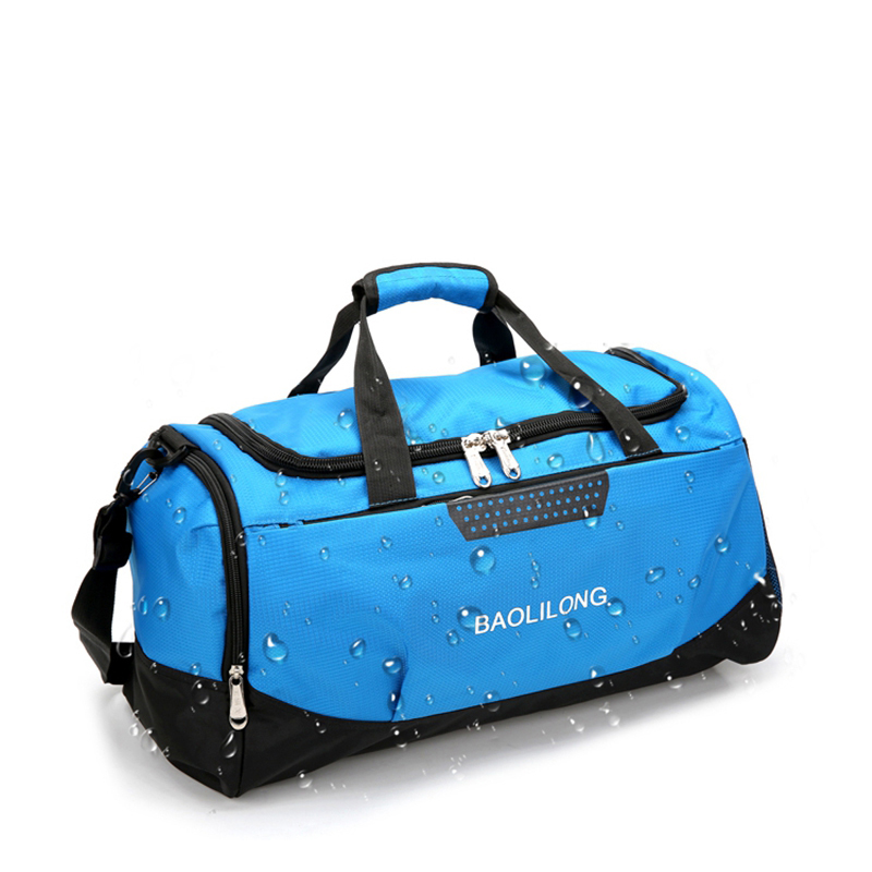 Professional Large Sports Bag Waterproof Gym Bag Polyester Men/Women Large Capacity Packable Duffle Sports Bag Travel Backpack