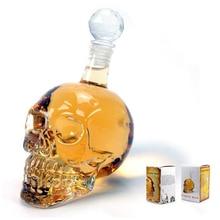 Crystal Skull head wine bottle Transparent Glass of Champagne Fruit Juice Cocktails Beer Wine  Bottle Party Cup Drinkware