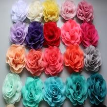 3.15 Chiffon  DIY Rosette Flowers Hair Accessories For Headbands Garment without clip 200pcs/lot
