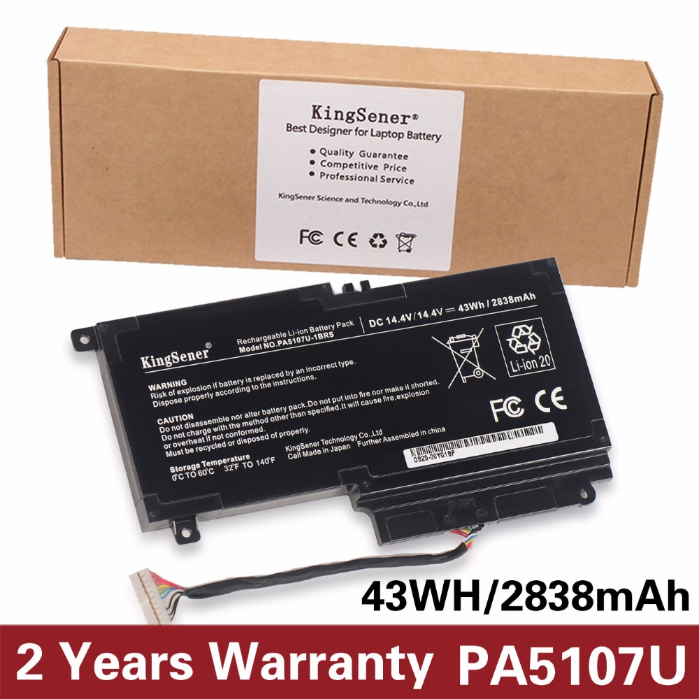 KingSener PA5107U PA5107U-1BRS Battery for Toshiba Satellite L45 L45D L50 S55 P55 L55 L55T P50 P50-A P55 S55-A-5275 S55-A5294 комплект ковриков в салон автомобиля novline autofamily bmw series 1 5d 2004 2011