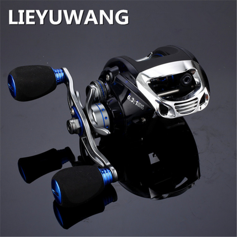 ФОТО Carretilha Para Pesca Bluesea Hot Sale Fishing Reel Water Drop Wheel 18+1bb 6.3:1 Metal Magnetic Break Systems Right Left Hand