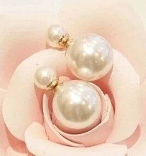 Korean Fashion Wild Temperament Unique Exaggerated Big Shiny Delicate Pearl Earrings The Size Of Imitation Jewelry Free Shipping