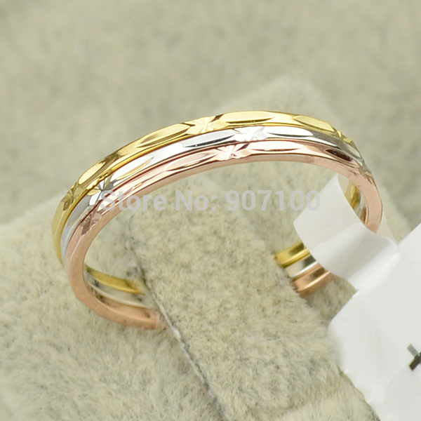 2017 Italina Brand New 3 Pcs Rings Rose Gold Color Classic Design