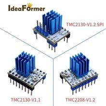 1/2/4/5 قطعة 3D طابعة TMC2208 V1.2/TMC2130 V1.1/TMC2130 V1.2 SPI محرك متدرج سائق StepStick حماية متفوقة الأداء.
