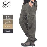 OONU Plus Size High Quality Men S Cargo Pants Casual Mens Pant Multi Pocket Military