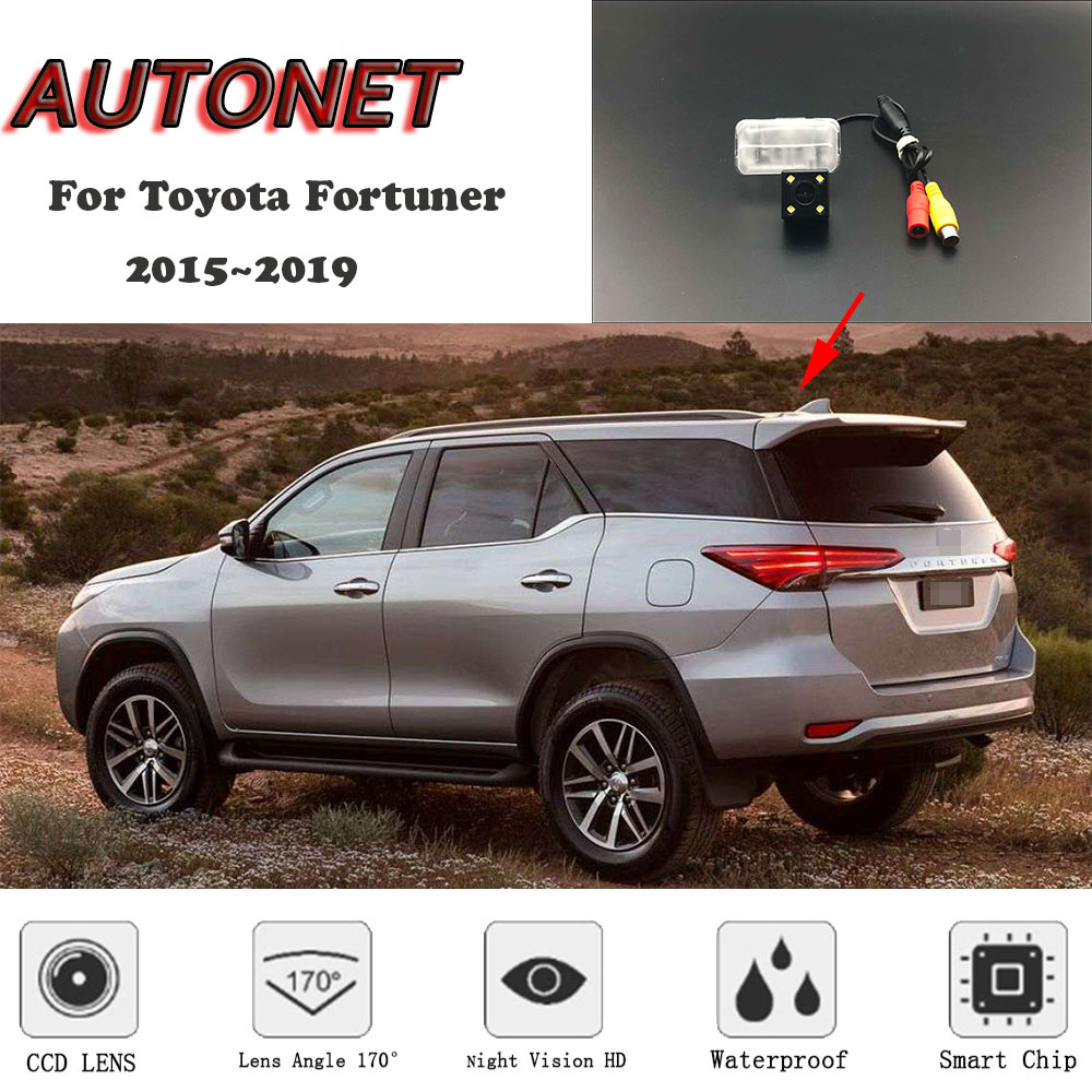 AUTONET HD Night Vision Backup Rear View camera For Toyota Fortuner 2015 2016 2017 2018 2019 CCD/license plate Camera