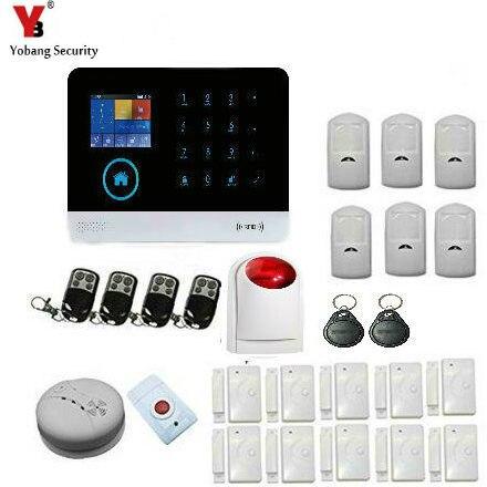 YoBang Security Home Wireless Network GSM GPRSRIFD Anti-theft Security Alert System IOSAndroid App Smart Cloud Alarm Smoke Alarm
