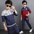 Autumn Children Sports Suits For Boys Coat + Pants 2 Pcs Cotton Casual Boys Clothing Sets 3 5 7 9 11 13 Years Kids Tracksuit
