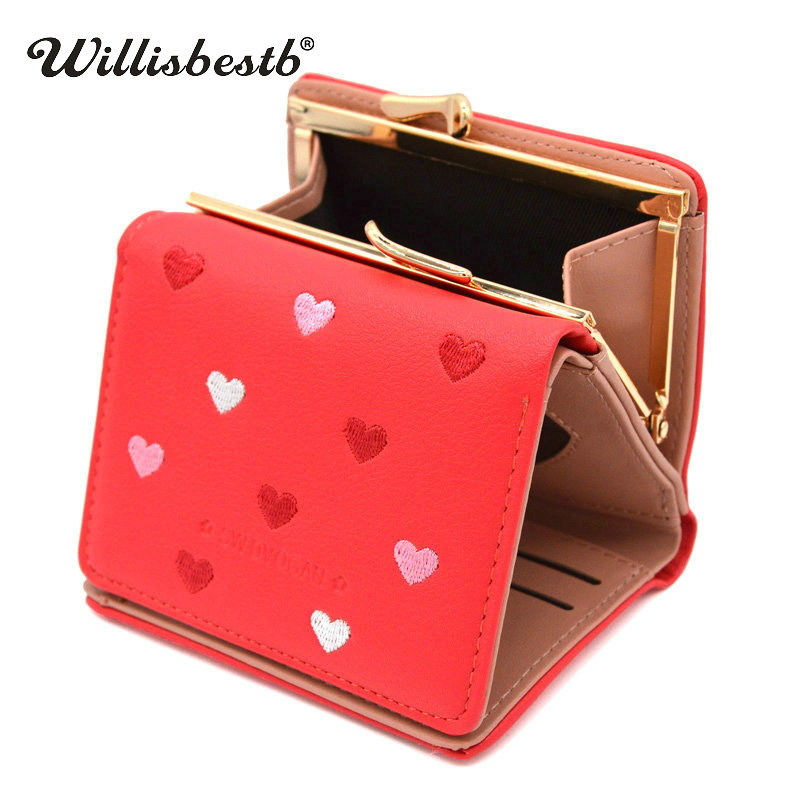 2018 New Small Purse Woman Wallet Fashion Female Purses Hasp Mini Luxury Leather Ladies Wallets Women Purses Clutch Card Holder