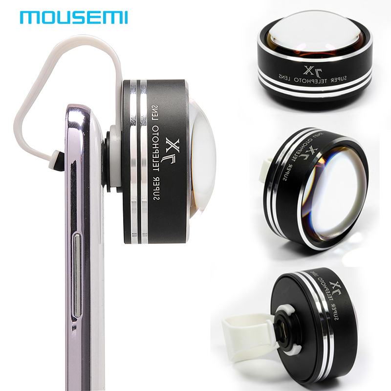 MOUSEMI Universal Fisheye Lens 7x Zoom Optical Lens Fish eye Photo Kit Set 7X Optical Camera Lens For iPhone Samsung Galaxy Lens