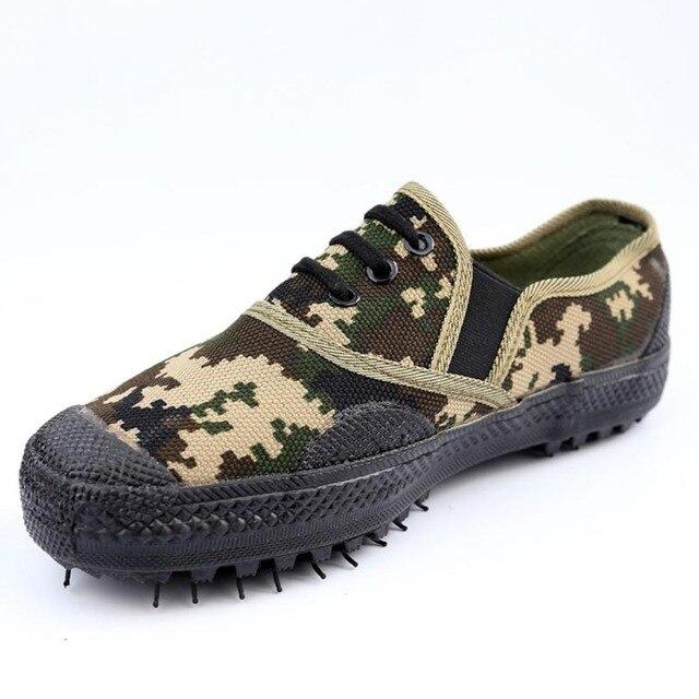 c84d104b6f39 Non-Cabinet de glissade Épaisse Semelle En Caoutchouc Toile Chaussures de  Formation Militaire Du Travail