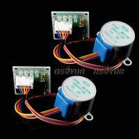motor drive 2pcs 5V Stepper Motor 28BYJ-48 With Drive Test Module Board ULN2003 5 Line 4 Phase Free Shipping & Drop Shipping (3)