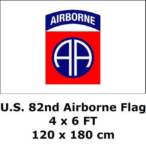 a902565c391 U.S. 82nd Airborne Division Flag 4` x 6` FT 100D Polyester Large USA US  United States American Army Military Paratroop Flags