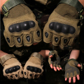 Half finger Tactical Gloves Tactical Hard Knuckle Half finger Gloves 100% polyster 3 optional color Sand CB Black