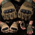 Medio dedo Guantes Tácticos tácticos Guantes Medio dedo Duro Knuckle 100% polyster 3 color opcional CB de Arena Negro