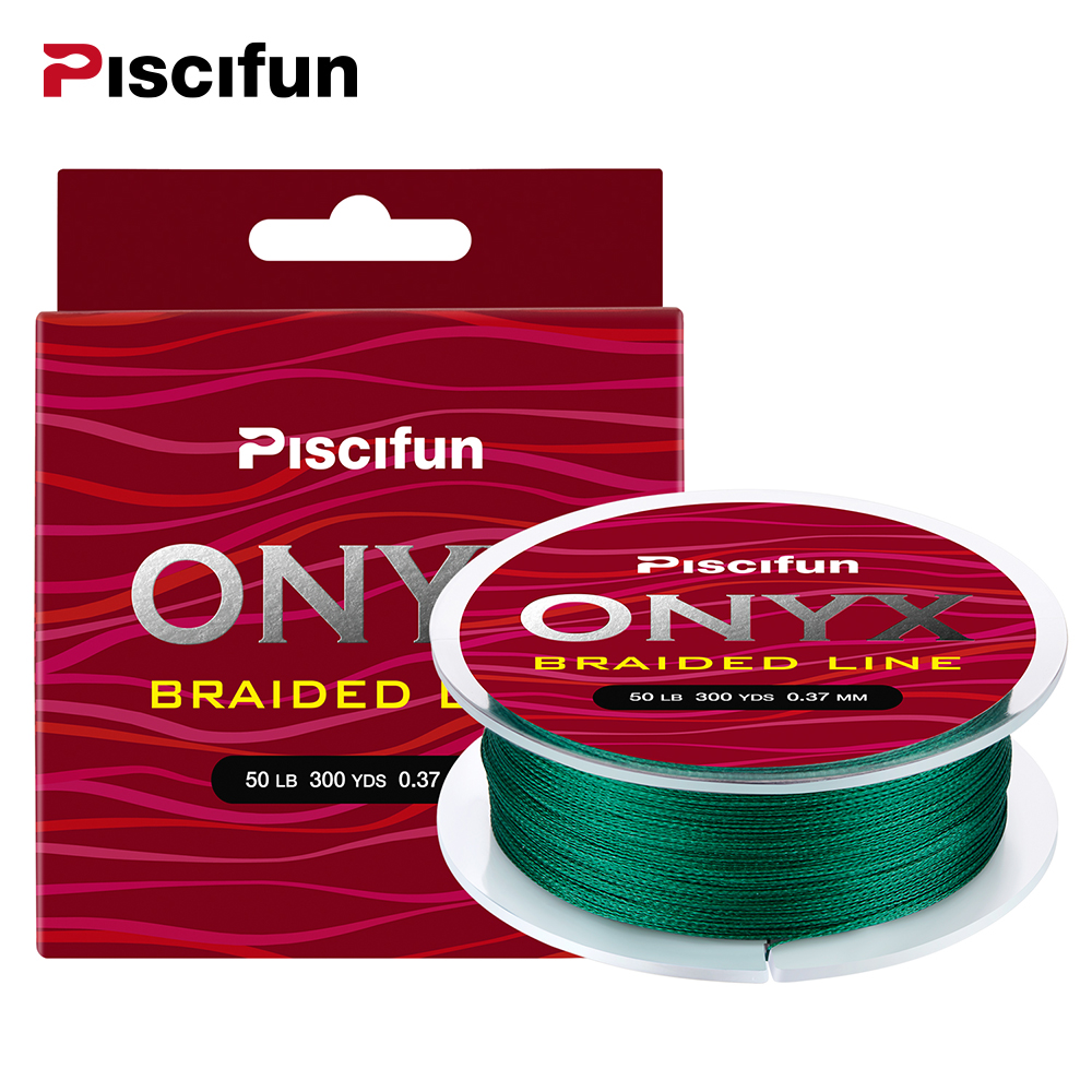 Piscifun Braided Line 300Yds 274M 6 150LB Super Strong PE Braided Fishing Line Multifilament Fishing Line