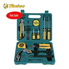 купить Toolgo 12Pcs Hand Tool Set General Household Hand Tool Kit with Plastic Toolbox Storage Case Socket Wrench Screwdriver Knife дешево