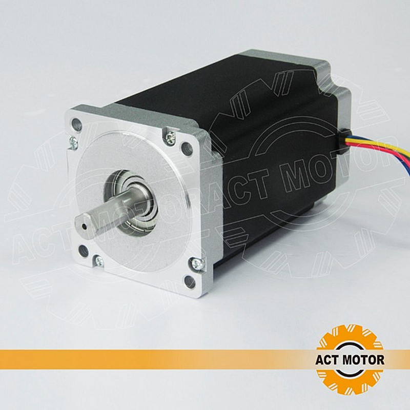 ACT Motor 1PC Nema34 Stepper Motor 34HS5435 1600oz-in 151mm 3.5A Dual Flat Shaft CE ROHS ISO CNC Laser US CA DE FR SP IT JP Free