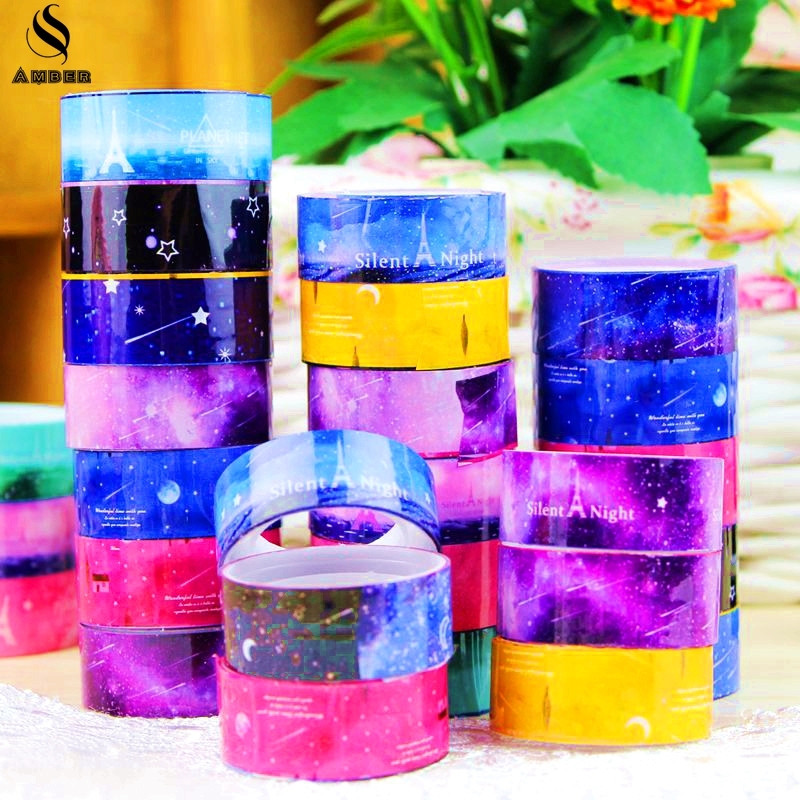 Diy candy hot sky tape decoration roll diy washi for Adhesive decoration