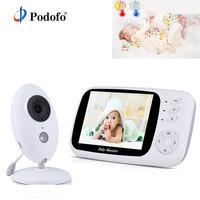 Podofo Wireless 3.5'' Digital Video Baby Monitor Audio Music Portable Infant Camera Nanny Monitor Temperature Sensor Intercom