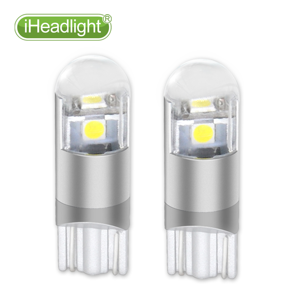 2pcs T10 LED Turn Side room lamp  W5W car Reading light White 194 168 Wedge 3smd 3030 width lamp and Reverse Bulb Signal lamp12V 2 x car ultra pure white 8 led 3020 smd t10 w5w bulb wedge side light bulb lamp