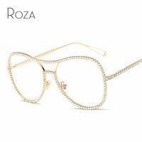 Queen College Sunglasses Women Decorative Rhinestone Mirror Lens Copper Frame Brand Designer Twin Beam Sun Glasses