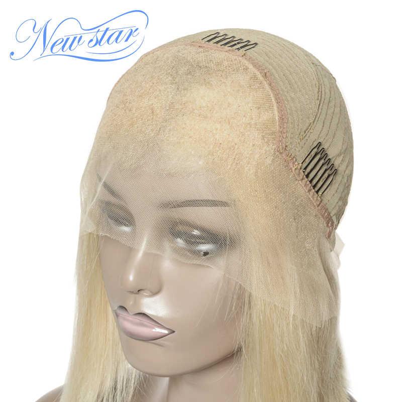 Kurze Blonde Spitze Bob Perücke Neue Stern 613 Gerade Reines Haar Brasilianische Glueless Spitze Vorne Perücke Menschenhaar Honig Blonde spitze Perücke