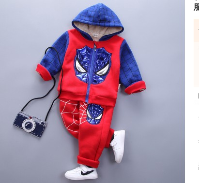 Spider-Man Kids 4 Fall / Winter Baby Boy Set 1 Kids 2 Plus Cashmere 3 Halloween 5 Ultraman Clothes 6 Years Old штаны для мальчиков baby boy pants kd 6 2015 infantil kd 2 3 4 5 6 xtk 66